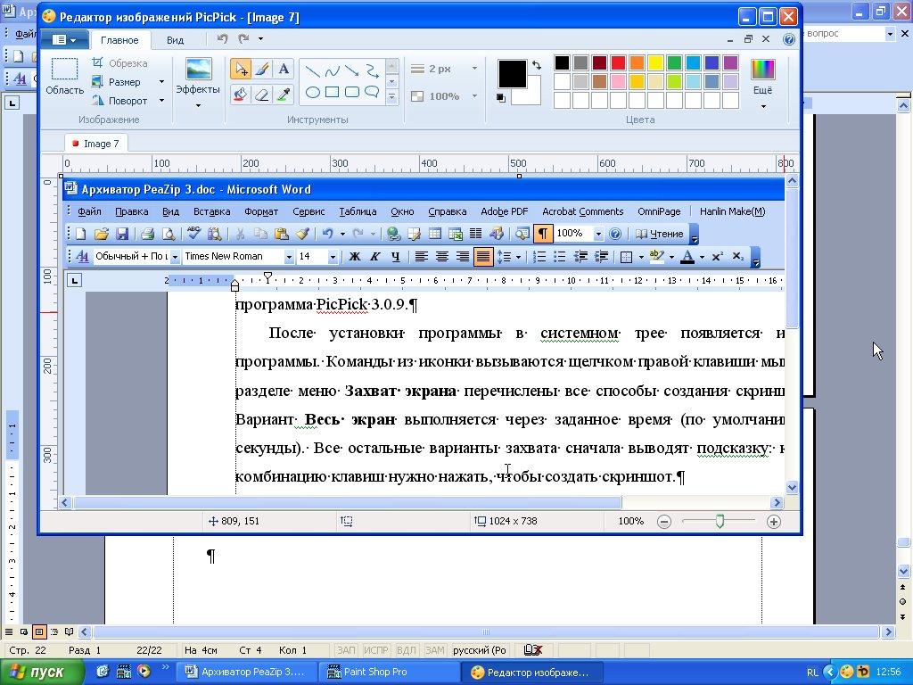 Редактирование скриншота программа PicPick 3.0.9