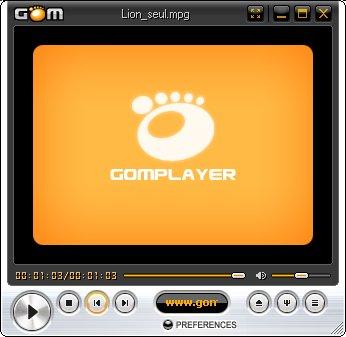 Рабочее окно проигрывателя Плеер GOM Player 2.1.37