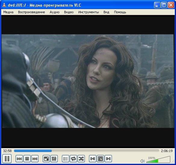 Рабочее окно плеера VideoLAN - VLC media player 2.0.0