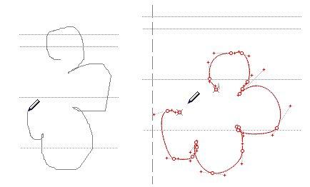 Рисование контуров карандашом