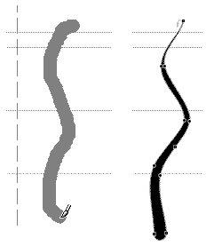 Создание каллиграфического контура кистью