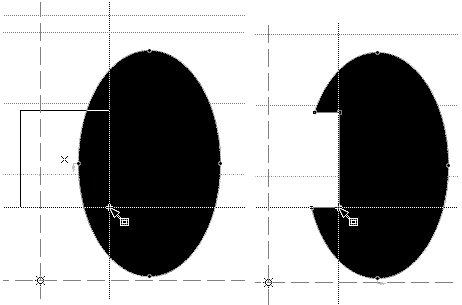 Прямоугольник начинается с белого цвета