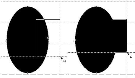Прямоугольник начинается с черного цвета