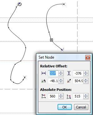 Определение параметров пары узлов
