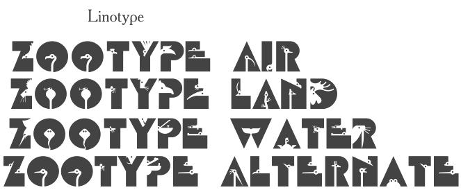 Шрифты семейства Lino Type Zoo Type